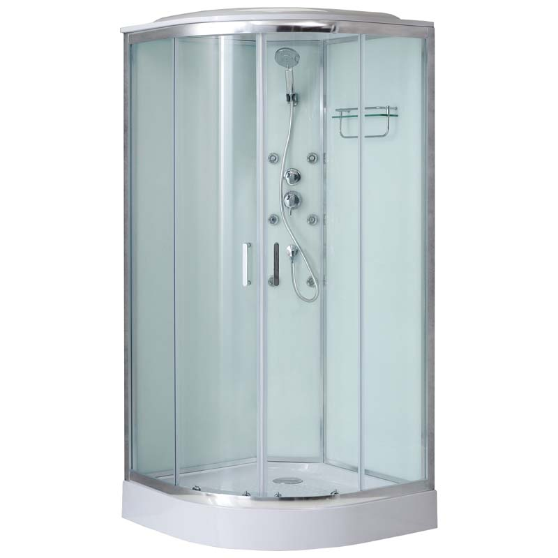 Душевая кабина BelBagno Uno-CAB-R-2-80-C-Cr-TOP