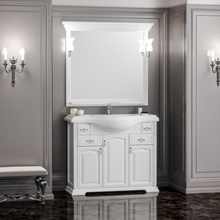 Комплект мебели Opadiris Риспекто 105 см Белый матовый фото