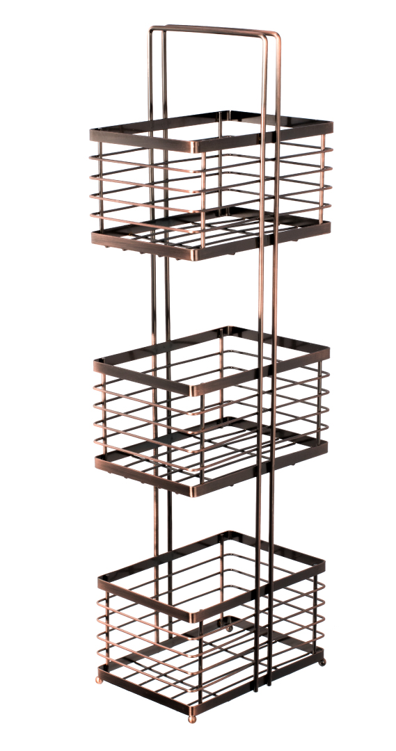 Полка FIXSEN прямоугольная трехэтажная (FX-852) фото
