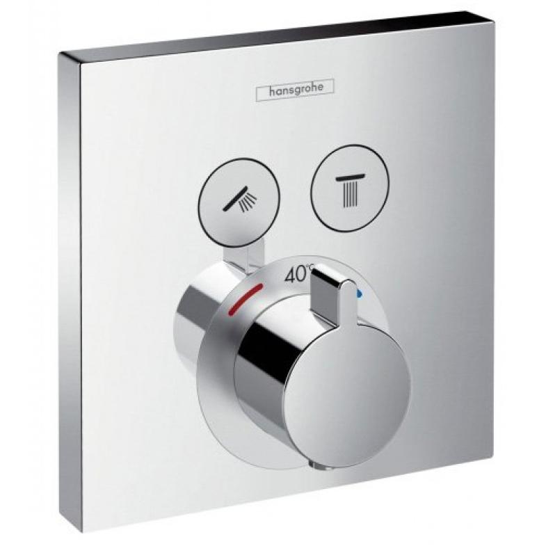 Смеситель для душа Hansgrohe Select 15763000 с термостатом фото