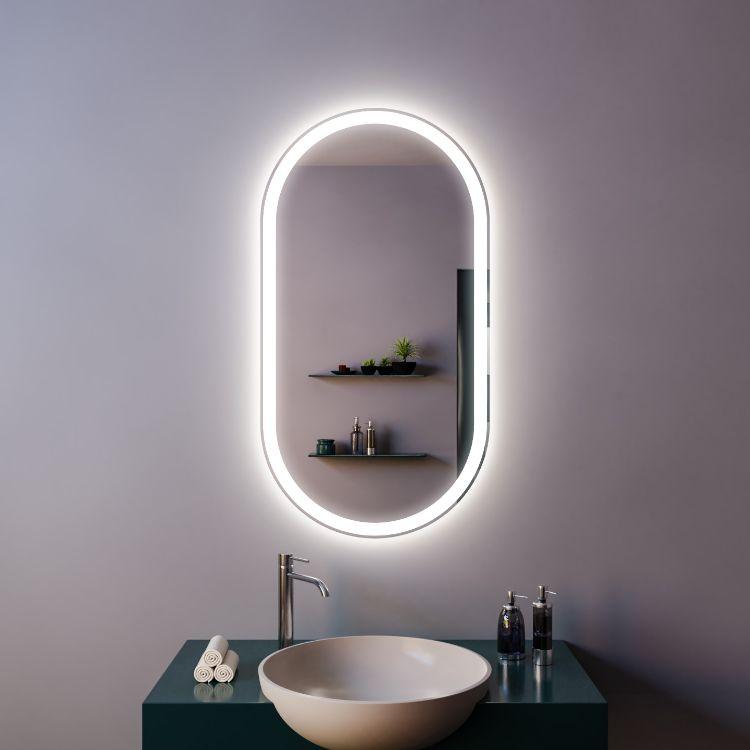 Зеркало с подсветкой Mirrals Aura 450х900 фото