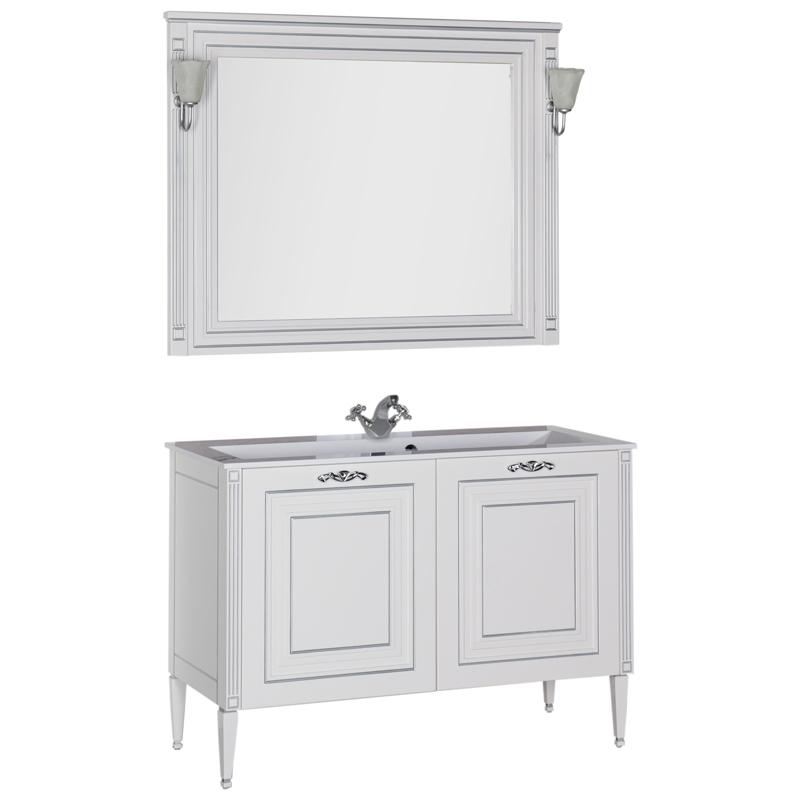 Мебель для ванной Aquanet Паола 120 белый/серебро 182131 фото