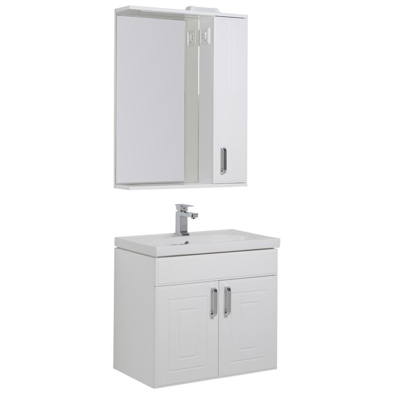 Мебель для ванной Aquanet Рондо 70 белый 195708 фото